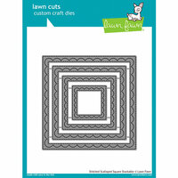 Lawn Fawn - Lawn Cuts - Dies - Outside In Stitched Scalloped Square Stackables