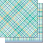 Lawn Fawn - Perfectly Plaid Collection - Chill - 12 x 12 Double Sided Paper - Keep Calm