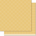 Lawn Fawn - Perfectly Plaid Collection - Chill - 12 x 12 Double Sided Paper - Mellow Yellow