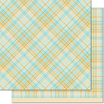 Lawn Fawn - Perfectly Plaid Collection - Chill - 12 x 12 Double Sided Paper - Vaycay