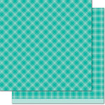 Lawn Fawn - Perfectly Plaid Collection - Chill - 12 x 12 Double Sided Paper - Om