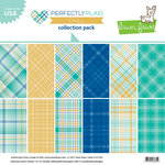 Lawn Fawn - Perfectly Plaid Collection - Chill - 12 x 12 Collection Pack