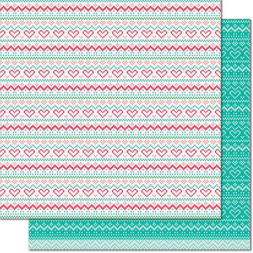 Lawn Fawn - Knit Picky Collection - 12 x 12 Double Sided Paper - Tea Cozy