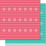 Lawn Fawn - Knit Picky Collection - 12 x 12 Double Sided Paper - Throw Blanket
