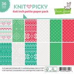Lawn Fawn - Knit Picky Collection - 6 x 6 Petite Paper Pack