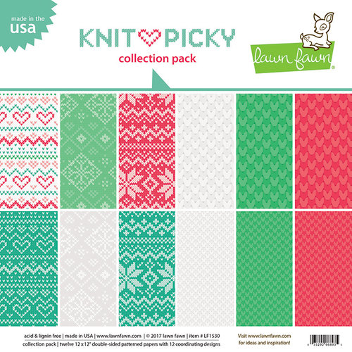 Lawn Fawn - Knit Picky Collection - 12 x 12 Collection Pack