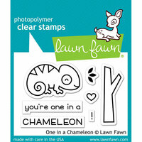 Lawn Fawn - Clear Photopolymer Stamps - One in a Chameleon