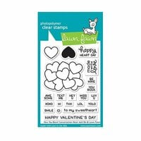 Lawn Fawn - Clear Photopolymer Stamps - How You Bean Conversation Heart Add-On