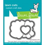 Lawn Fawn - Lawn Cuts - Dies - How You Bean Conversation Heart Add-On