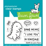 Lawn Fawn - Clear Photopolymer Stamps - RAWR