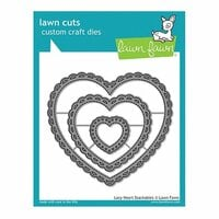 Lawn Fawn - Lawn Cuts - Dies - Lacy Heart Stackables