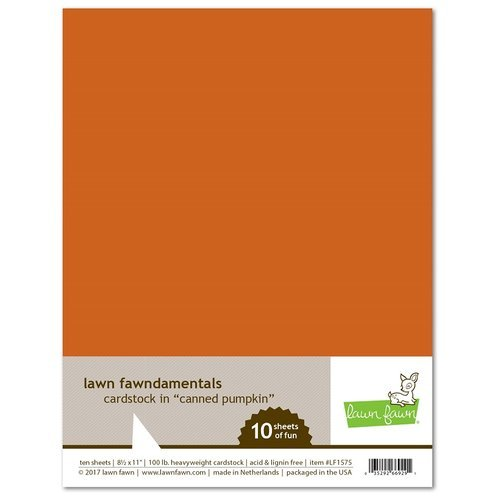Lawn Fawn - 8.5 x 11 Cardstock - Canned Pumpkin - 10 Pack
