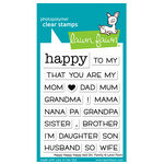 Lawn Fawn - Clear Photopolymer Stamps - Happy Happy Happy Add-On - Family