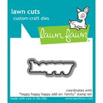 Lawn Fawn - Lawn Cuts - Dies - Happy Happy Happy Add-On - Family