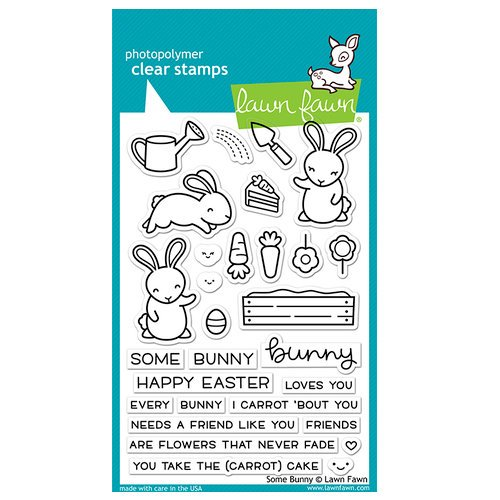 Lawn Fawn - Clear Photopolymer Stamps - Some Bunny