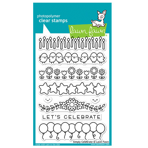 Lawn Fawn - Clear Photopolymer Stamps - Simply Celebrate