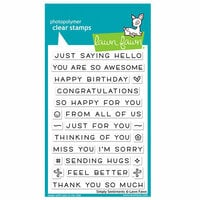 Lawn Fawn - Clear Photopolymer Stamps - Simply Sentiments