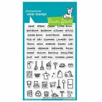 Lawn Fawn - Clear Photopolymer Stamps - Plan on It - Spring Cleaning