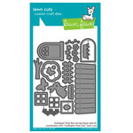 Lawn Fawn - Lawn Cuts - Dies - Scalloped Treat Box Spring House Add-On