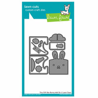 Lawn Fawn - Lawn Cuts - Dies - Tiny Gift Box Bunny Add-On