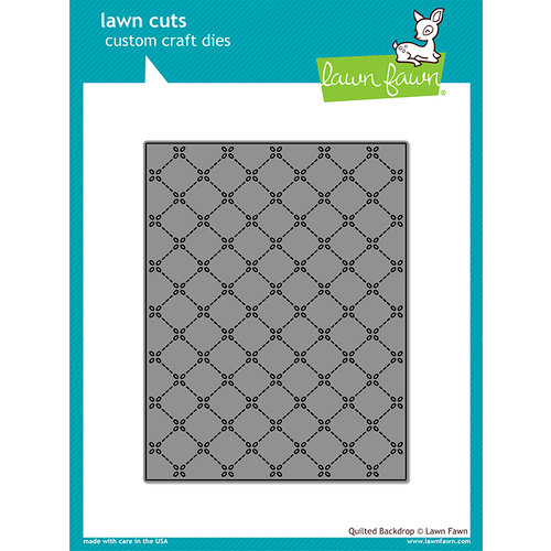 Lawn Fawn - Lawn Cuts - Dies - Quilted Backdrop