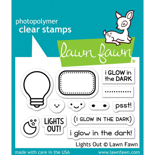 Lawn Fawn - Clear Photopolymer Stamps - Lights Out