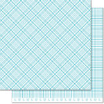 Lawn Fawn - Perfectly Plaid Collection - Spring - 12 x 12 Double Sided Paper - Bluebell