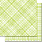 Lawn Fawn - Perfectly Plaid Collection - Spring - 12 x 12 Double Sided Paper - Lily of the Valley