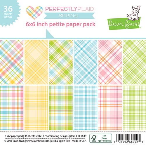 Lawn Fawn - Perfectly Plaid Collection - Spring - 6 x 6 Petite Paper Pack