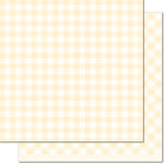 Lawn Fawn - Gotta Have Gingham Collection - 12 x 12 Double Sided Paper - Daisy