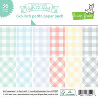Lawn Fawn - Gotta Have Gingham Collection - 6 x 6 Petite Paper Pack