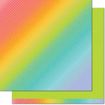 Lawn Fawn - Really Rainbow Collection - 12 x 12 Double Sided Paper - Green Clover