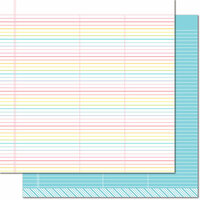 Lawn Fawn - Really Rainbow Collection - 12 x 12 Double Sided Paper - True Blue