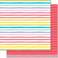 Lawn Fawn - Really Rainbow Collection - 12 x 12 Double Sided Paper - Ruby Red