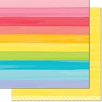 Lawn Fawn - Really Rainbow Collection - 12 x 12 Double Sided Paper - Yellow Brick Road