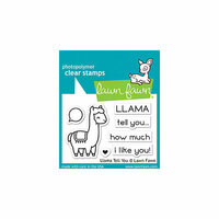 Lawn Fawn - Clear Photopolymer Stamps - Llama Tell You