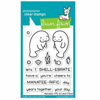 Lawn Fawn - Clear Photopolymer Stamps - Manatee-rific