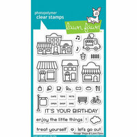 Lawn Fawn - Clear Photopolymer Stamps - Village Shops