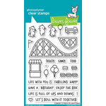 Lawn Fawn - Clear Acrylic Stamps - Coaster Critters