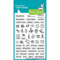 Lawn Fawn - Clear Photopolymer Stamps - Plan On It - Appointments