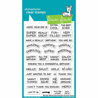Lawn Fawn - Lawn Cuts - Stamps - Reveal Wheel Sentiments