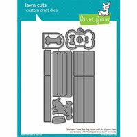 Lawn Fawn - Lawn Cuts - Dies - Scalloped Treat Box Dog House Add-On