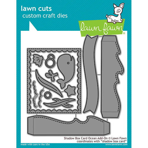 Lawn Fawn - Lawn Cuts - Dies - Shadow Box Card Ocean Add-On