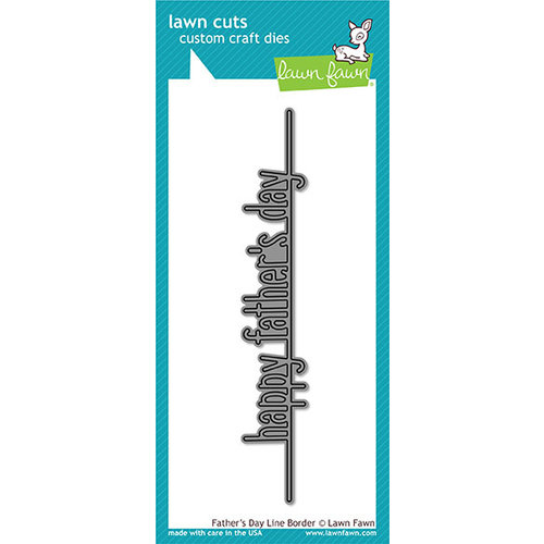 Lawn Fawn - Lawn Cuts - Dies - Father's Day Line Border