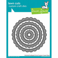 Lawn Fawn - Lawn Cuts - Dies - Stitched Scalloped Circle Frames