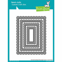 Lawn Fawn - Lawn Cuts - Dies - Stitched Scalloped Rectangle Frames