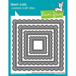 Lawn Fawn - Lawn Cuts - Dies - Stitched Scalloped Square Frames