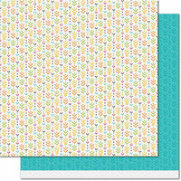 Lawn Fawn - Knit Picky Collection - Fall - 12 x 12 Double Sided Paper - Table Runner