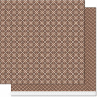 Lawn Fawn - Knit Picky Collection - Fall - 12 x 12 Double Sided Paper - Sweater Vest