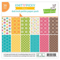 Lawn Fawn - Knit Picky Collection - Fall - 6 x 6 Petite Paper Pack